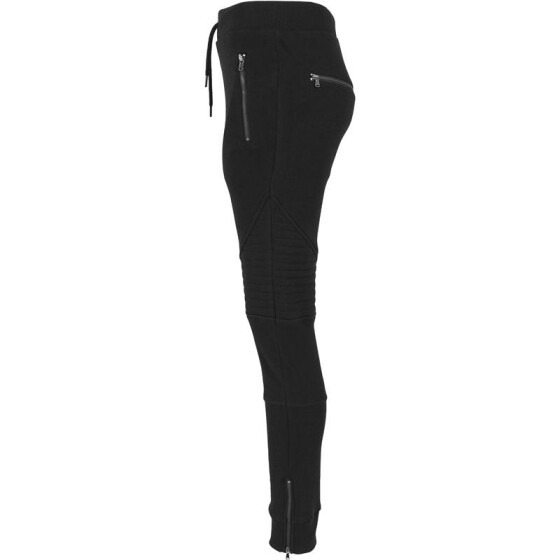Urban Classics Ladies Melange Biker Sweatpants, blk/blk