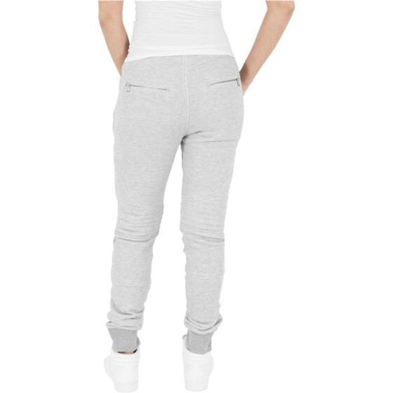 Urban Classics Ladies Melange Biker Sweatpants, gry/gry