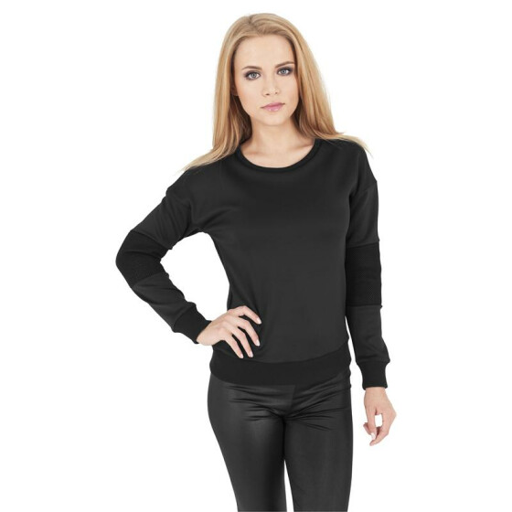 Urban Classics Ladies Scuba Mesh Crew, black