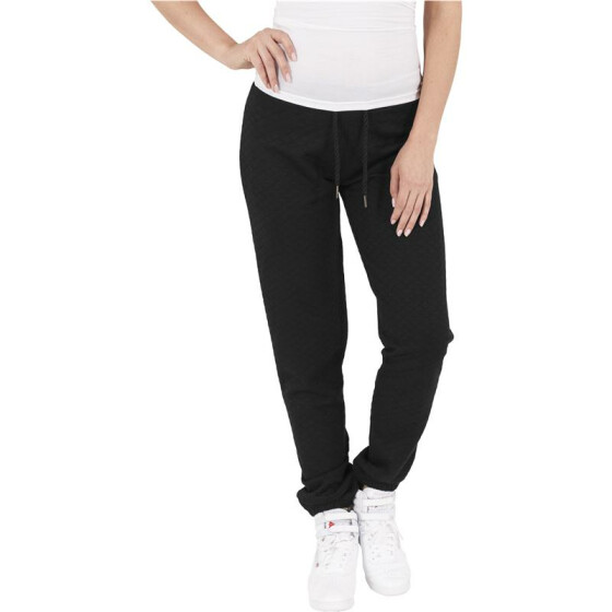 Urban Classics Ladies Quilt Jogging Pants, black