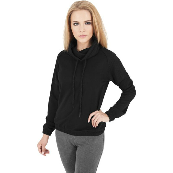 Urban Classics Ladies Quilt High Neck Crew, black