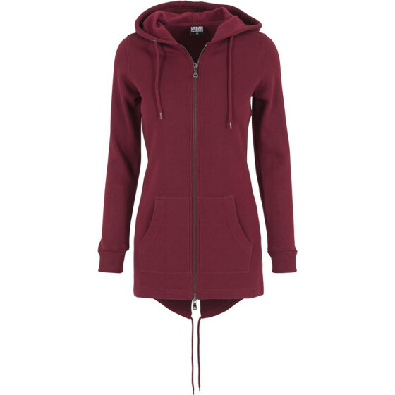 Urban Classics Ladies Sweat Parka, burgundy