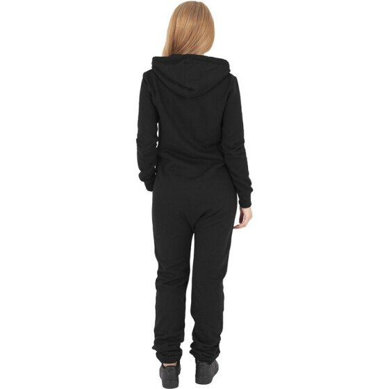 Urban Classics Ladies Sweat Jumpsuit, blk/wht