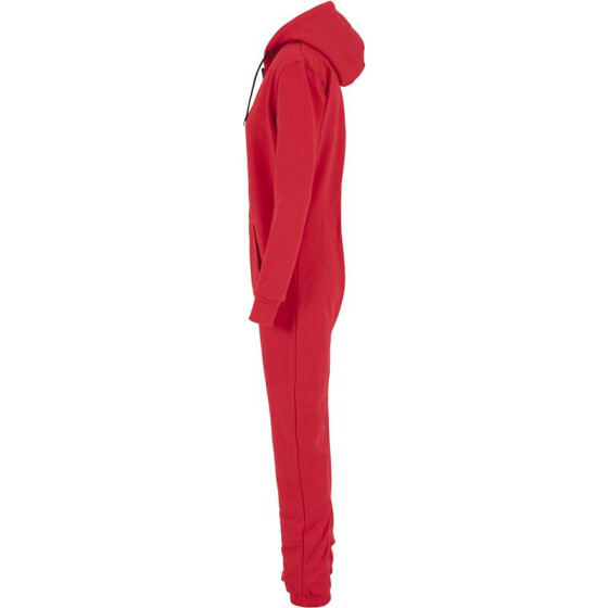 Urban Classics Ladies Sweat Jumpsuit, red/blk