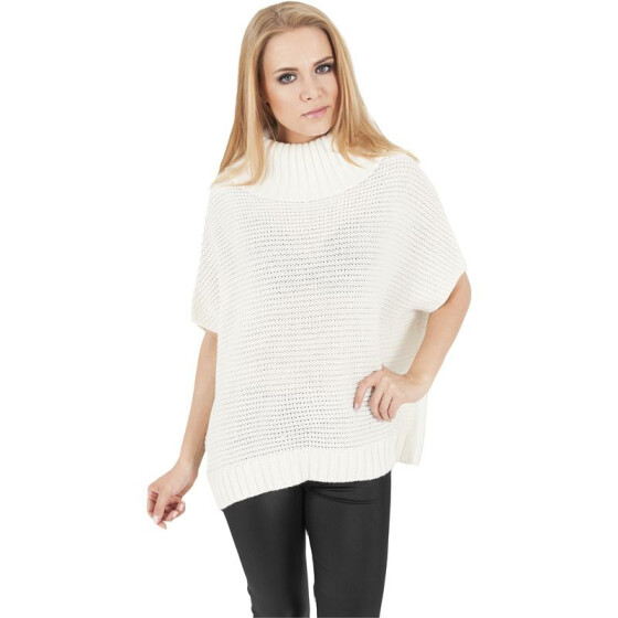 Urban Classics Ladies Knitted Poncho, offwhite
