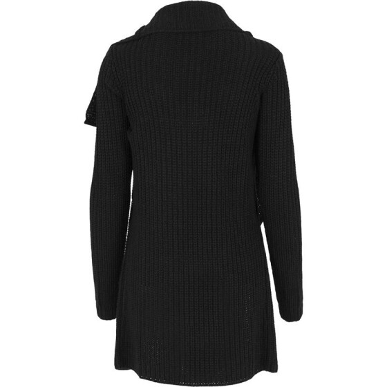 Urban Classics Ladies Knitted Long Cape, black