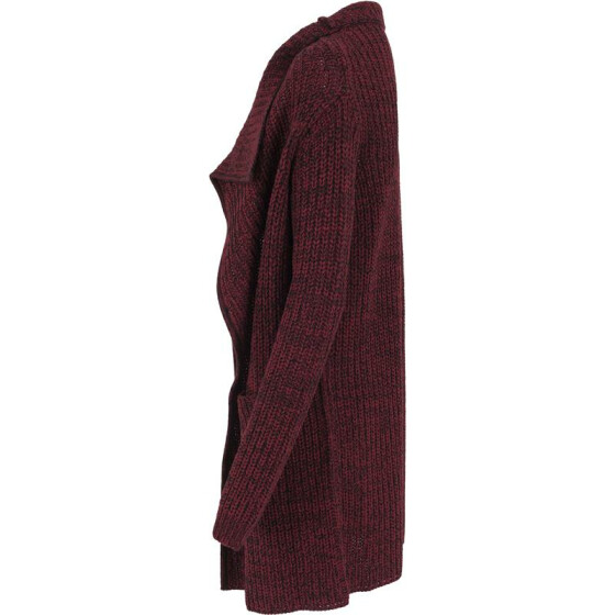 Urban Classics Ladies Knitted Long Cape, burgundy
