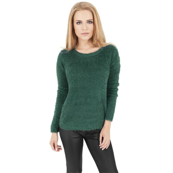 Urban Classics Ladies Nylon Feather Crew, forest