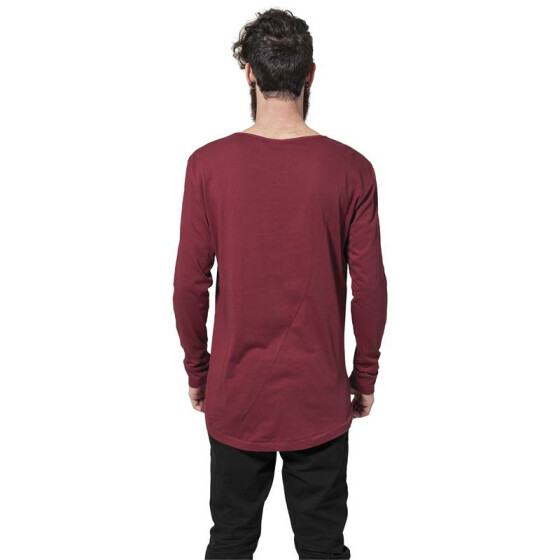 Urban Classics Long Shaped Fashion L/S Tee, burgundy