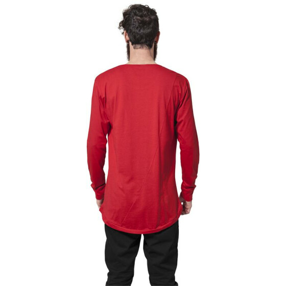 Urban Classics Long Shaped Fashion L/S Tee, fire red