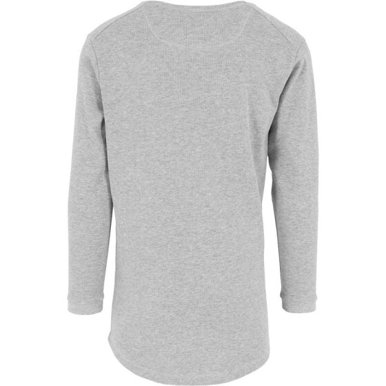 Urban Classics Long Shaped Waffle L/S Tee, grey