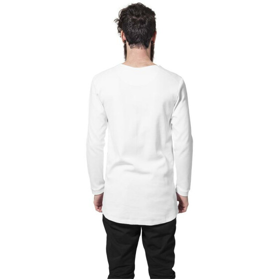 Urban Classics Long Shaped Waffle L/S Tee, white