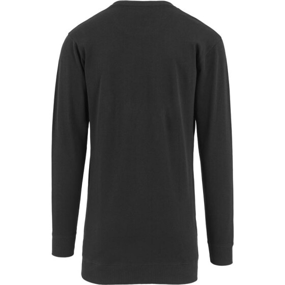 Urban Classics Long Light Fleece Crewneck, black