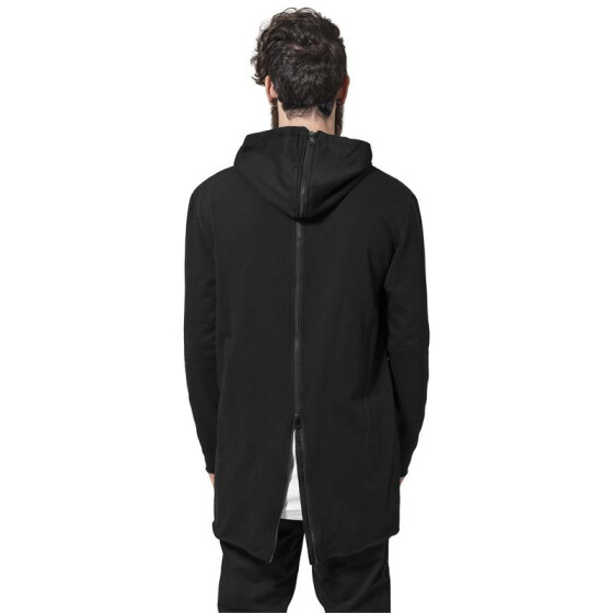 Urban Classics Long Shaped Back Zipped Hoody, black