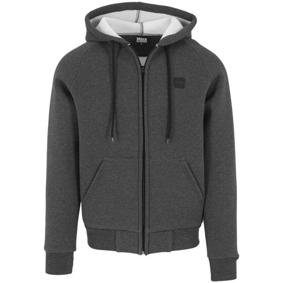 Urban Classics Thermo Zip Hoody, charcoal