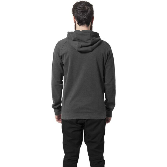 Urban Classics Heavy Interlock Raglan Zip Hoody, charcoal