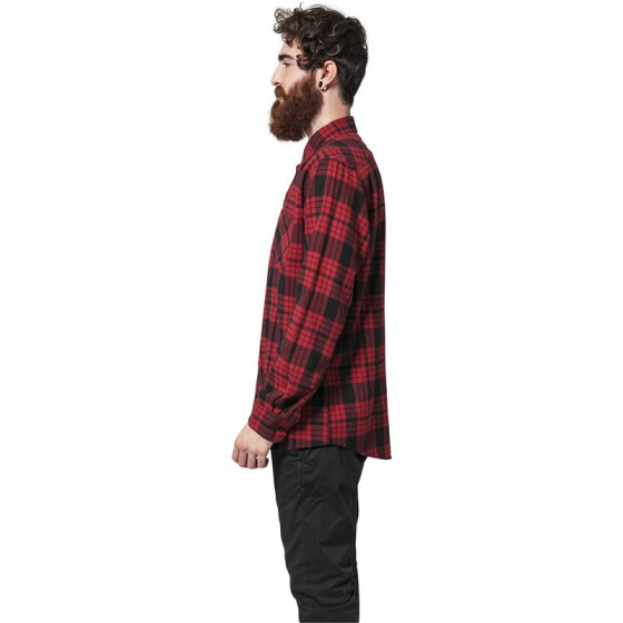 Urban Classics Checked Flanell Shirt 2, red/blk