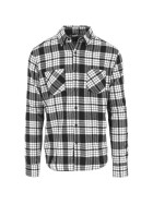 Urban Classics Checked Flanell Shirt 2, wht/blk