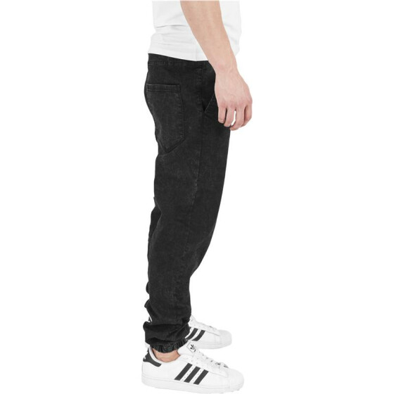 Urban Classics Stretch Denim Jogging Pants, black washed