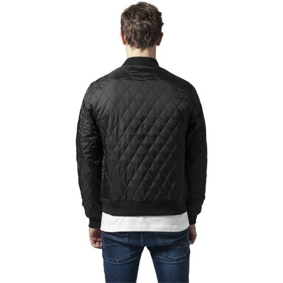 Urban Classics Diamond Quilt Honeycomb Jacket, black