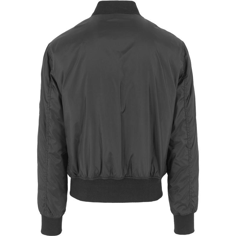 urban classics tech zip bomber jacket black. Black Bedroom Furniture Sets. Home Design Ideas