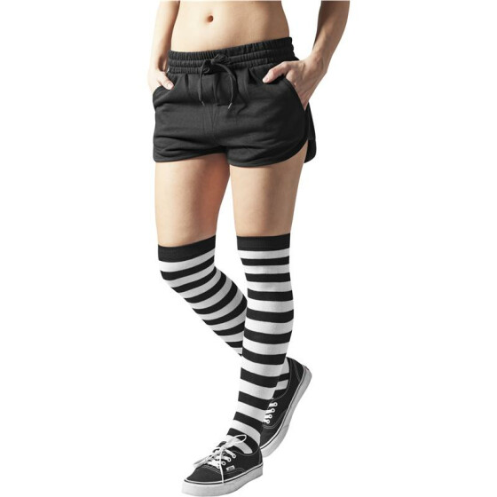 Urban Classics Ladies Striped Socks, blk/wht