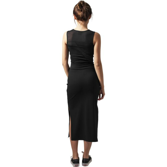 Urban Classics Ladies Tech Mesh Dress, black