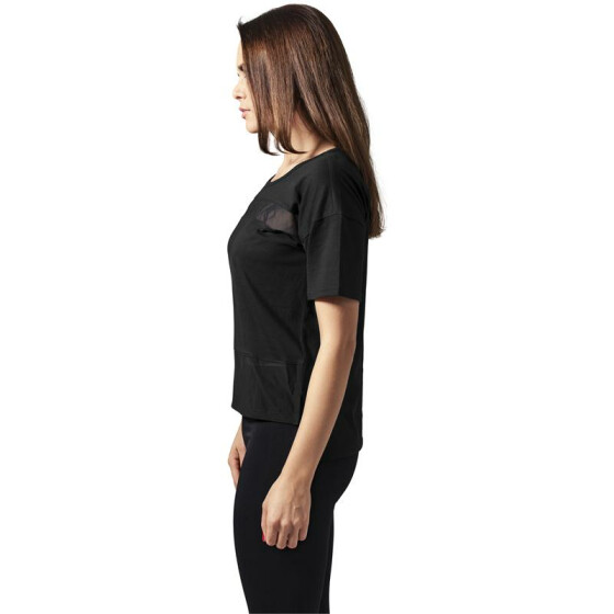 Urban Classics Ladies Tech Mesh Tee, blk/blk