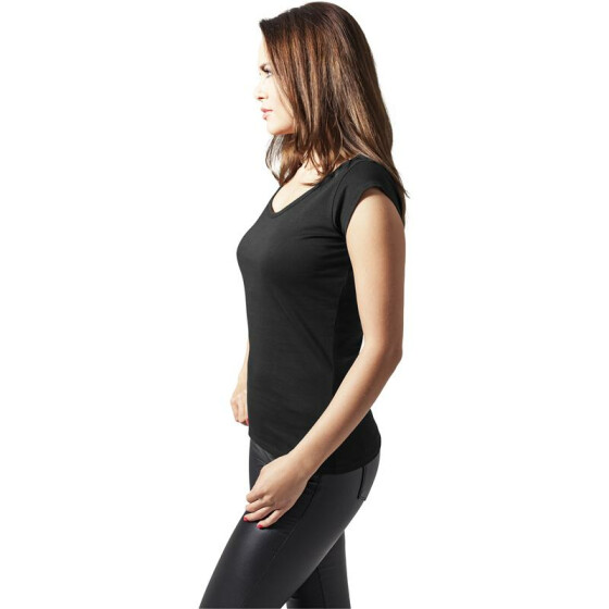 Urban Classics Ladies Cutted Back Tee, black