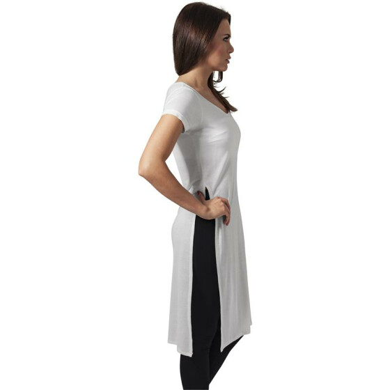 Urban Classics Ladies Side Slit Viscose Long Tee, offwhite