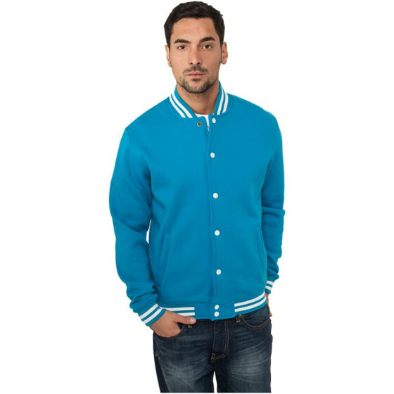 Urban Classics College Sweatjacket, turquoise