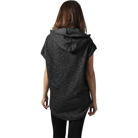 Urban Classics Ladies Melange Sleeveless Terry Hoody, darkgrey