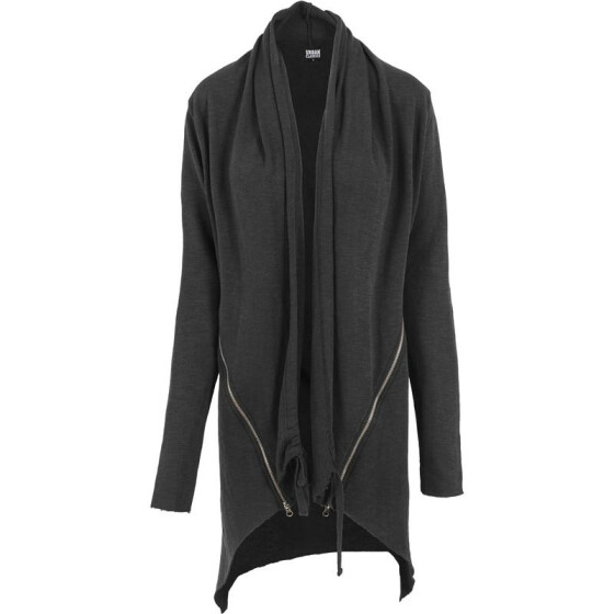 Urban Classics Ladies Terry Cardigan, darkgrey