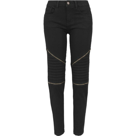 Urban Classics Ladies Stretch Biker Pants, black