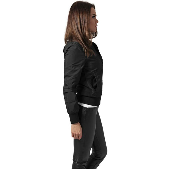 Urban Classics Ladies Light Bomber Jacket, black