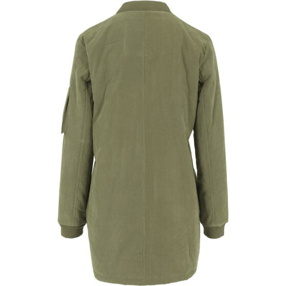 Urban Classics Ladies Peached Long Bomber Jacket, olive