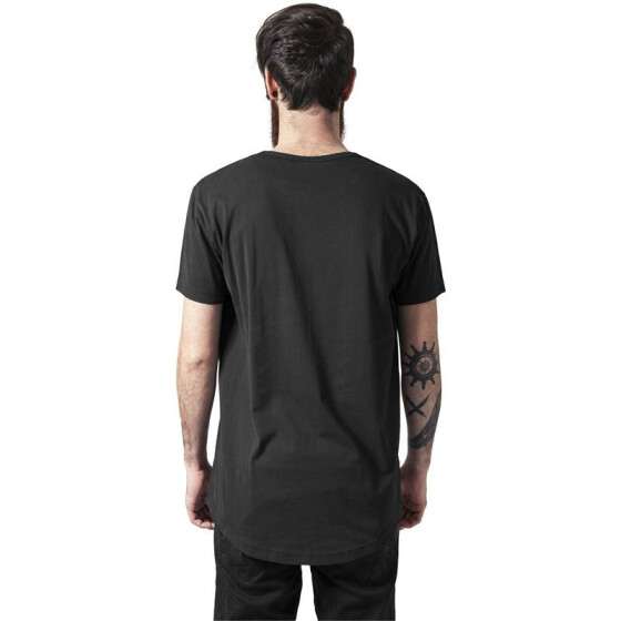 Urban Classics Peached Shaped Long Tee, black