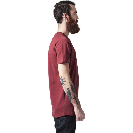 Urban Classics Peached Shaped Long Tee, burgundy