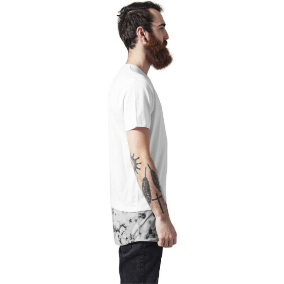 Urban Classics Long Shaped Marble Tee, white