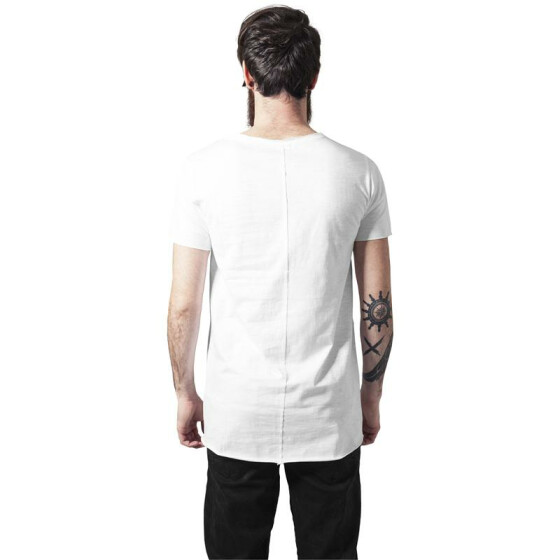 Urban Classics Long Open Edge Front Zip Tee, white