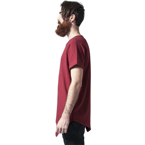 Urban Classics Asymetric Long Tee, burgundy