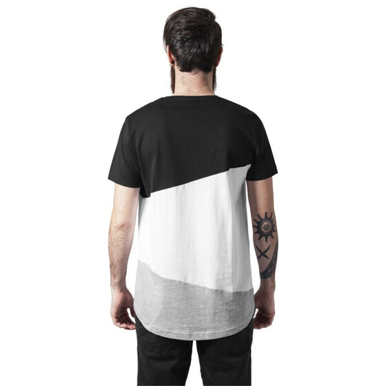 Urban Classics Long Shaped Zig Zag Tee, blk/wht/gry