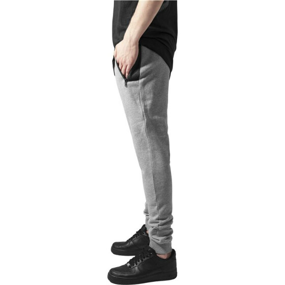 Urban Classics Peached Tech Sweatpants, gry/blk