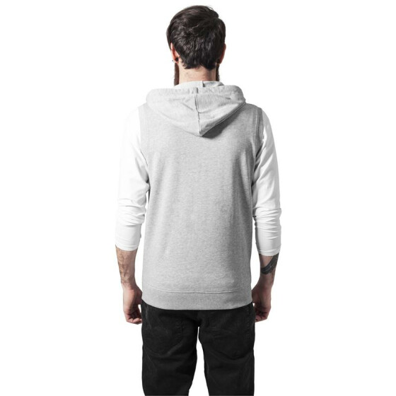 Urban Classics Sleeveless Terry Zip Hoody, grey