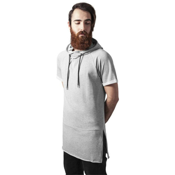 Urban Classics Shortsleeve Long Raglan Hoody, grey