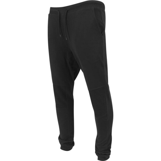 Urban Classics Deep Crotch Terry Biker Sweatpants, black