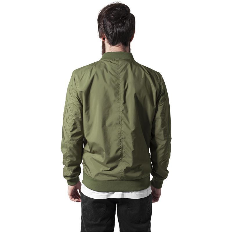 urban classics light bomber jacket olive. Black Bedroom Furniture Sets. Home Design Ideas