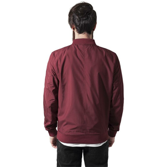 Urban Classics Light Bomber Jacket, burgundy