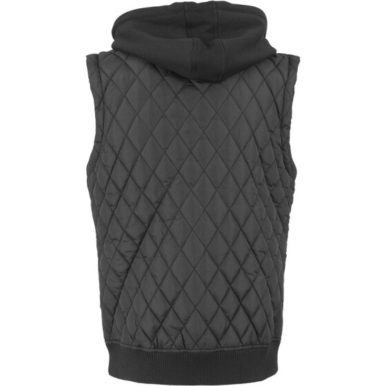 Urban Classics Diamond Quilted Hooded Vest, blk/blk