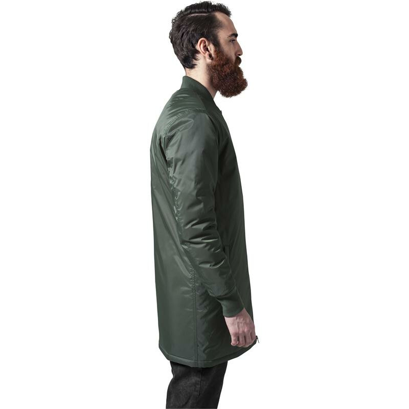 urban classics long bomber jacket olive. Black Bedroom Furniture Sets. Home Design Ideas